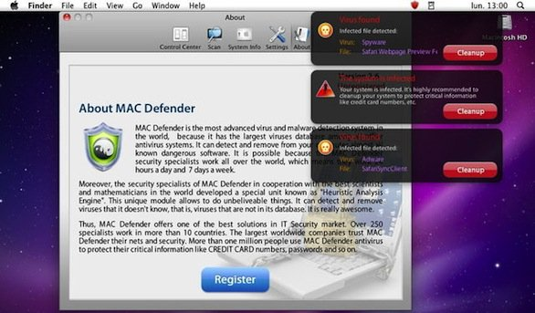 Mac Defender e Mac Security: due malware travestiti da antivirus